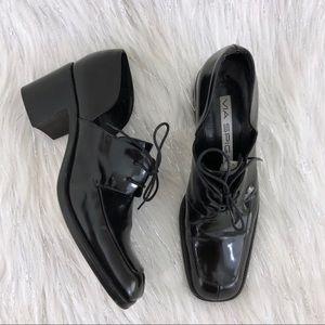Vintage Via Spiga side cutout heel loafers 8.5